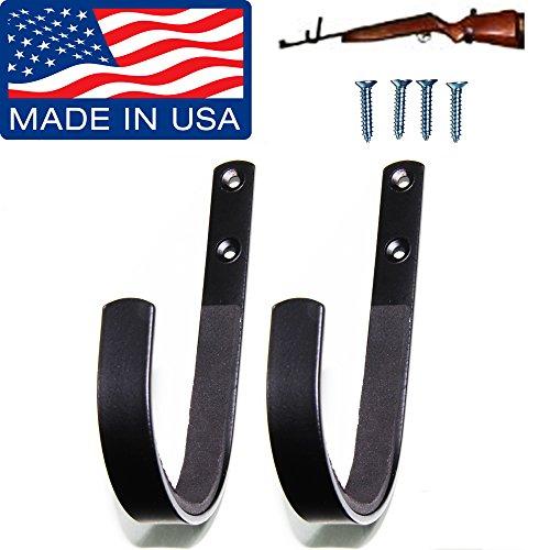 Gun Rack Shotgun Hooks Rifle Hangers Archery Bow Felt Lined Wall Mount Storage Handmade in the USA