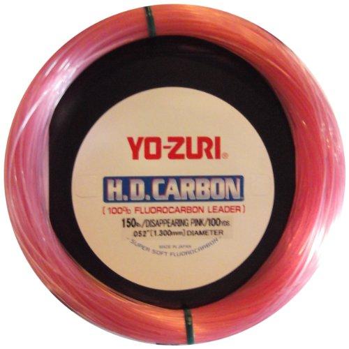 Yo-Zuri 30-Yard HD Fluorocarbon Leader Line Pink 25-Pound