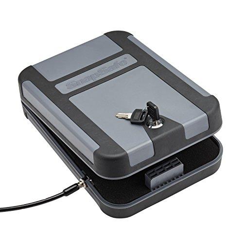 "Snapsafe Treklite Lock Box with Key Lock X-Large 75212 Portable Polycarbonate Handgun Safe Case TSA CA DOJ Approved Measures 10"" x 7"" x 2"""
