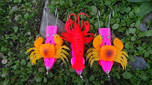 3pcs soft lure  lead fish luresoft crab fishing lure  fishingtackle 17cm 170g