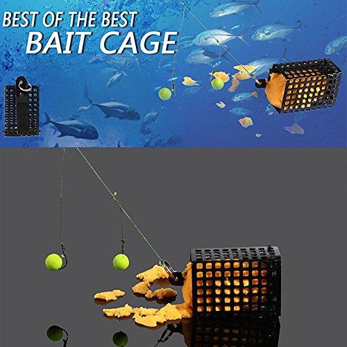 BrandChefTM Fishing Accessory Fishing Trap Basket Black Lightweight Fishing Feeder Holder 25g ABS Lead Fishing Lure Feeder Bait Cage