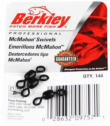 Berkley McMahon Swivels 7 Tackle Size 60 lb Breaking Strength Black Per 144