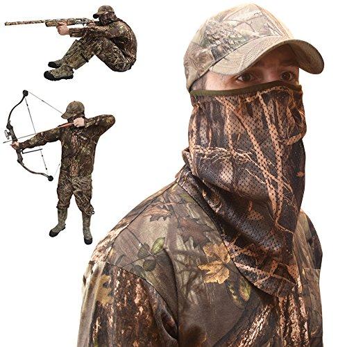 DecoyPro Camo Face Mask Half Mask - Camo Face Masks Hunting Mask - Turkey Hunting Face Mask - Bow Hunting Face Mask Mesh - Duck Hunting Face Mask - Camouflage Face Mask Hunting