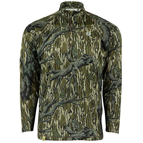 Mossy Oak Quarter Zip Camo Shirts for men Hunting Clothes for Men Camo Shirt
