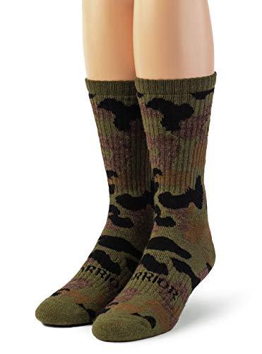 Warrior Alpaca Socks - Alpaca Wool Heavy-Duty Hunting Camouflage Socks for Men Women Terry Lined