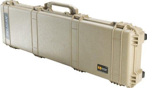 Pelican 1750 Rifle Case With Foam Desert Tan