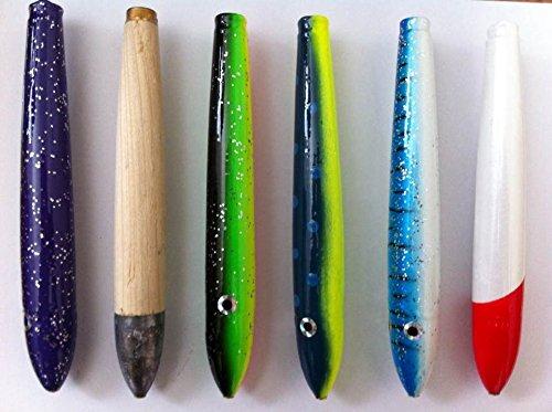 6 Unrigged Cedar Plugs - 6 Pcs wLure Bag