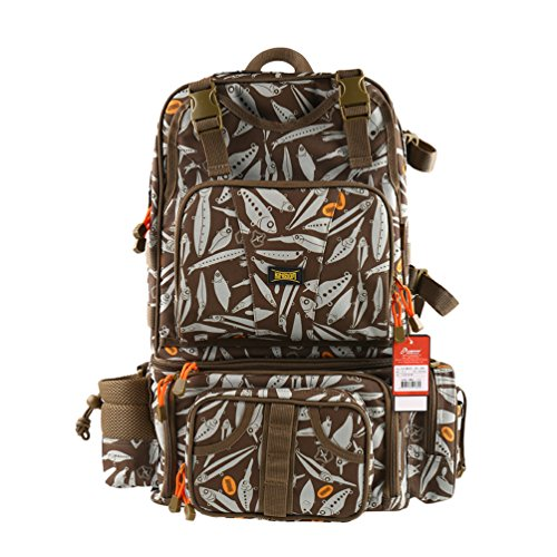Kingdomfishing Multifunctional Fishing Backpack Tackle Bag Detachable Combination Lure Backpacks Fishing Gear Storage Shoulder Handbags with Phone Bag