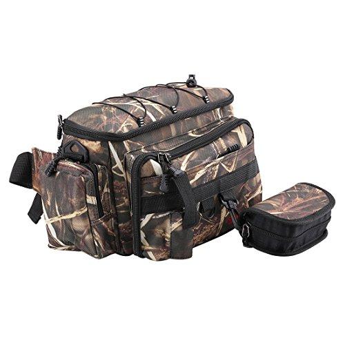 SeaKnight SK002 Fishing Bag Multi 4 Layers Outdoor Fishing Tackle Bag Single Shouler Bag Waist Bag Double Use Fishing Travel Hiking Climbing Sports Bag Pack with Hard Lure Bag