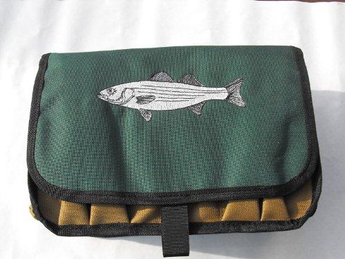 Striper Saltwater Surf Fishermans Lure Plug Ten Compartment Bag Case w Drain Holes