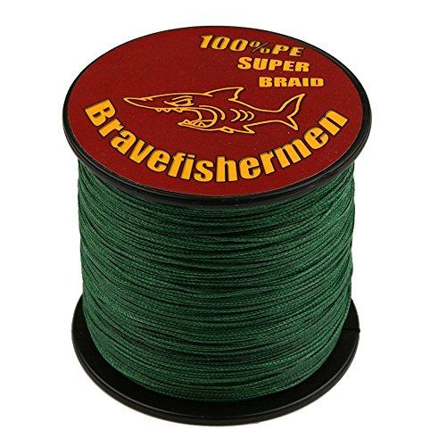 Dark Green super strong PE braided fishing line 100M 10LB