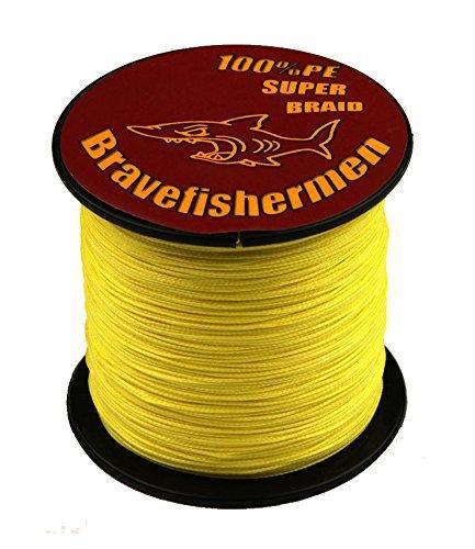 Yellow Super Strong Pe Braided Fishing Line 10LB to100LB 100M 80LB