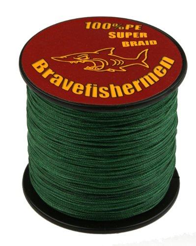 Dark Green super strong PE braided fishing line 1000M 10LB