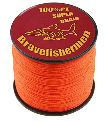 Fluorescent orange Super Strong Pe Braided Fishing Line 6LB to100LB 1000m 100LB