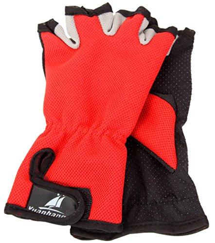 Aivtalk Outdoor Fishing Gloves Sports Hunting Harf Finger Anti-Slip Mitts - Red