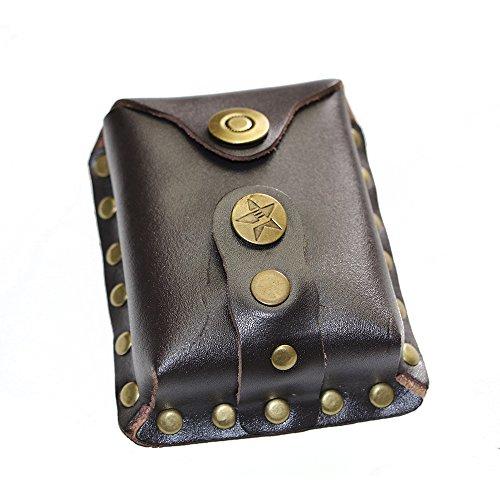 I-Sport Hunting slingshot Leather Ammo balls waist Pouch Wallet bag holder Storage Bag brown