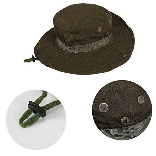 vanki 1 pc Useful Tactical Head WearBoonieJungle Hat Cap For Wargame SportsHuntingFishing&Outdoor Activities Olive