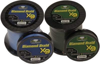 Momoi Diamond Braid Generation III Fishing Line X9 - Dark Green - 40lb - 300 yds