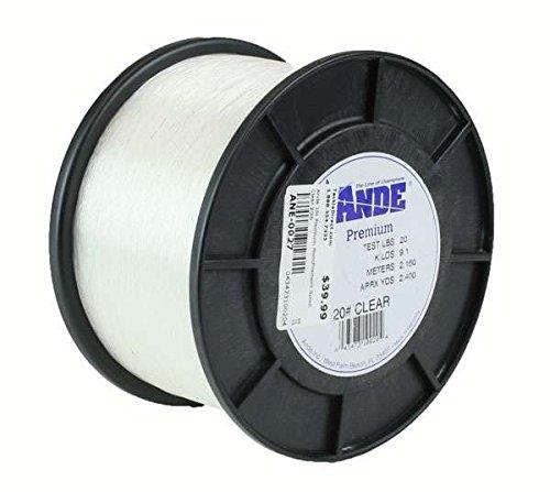 Ande Premium Monofilament Line 1-Pound Spool 50-Pound Test Clear Finish