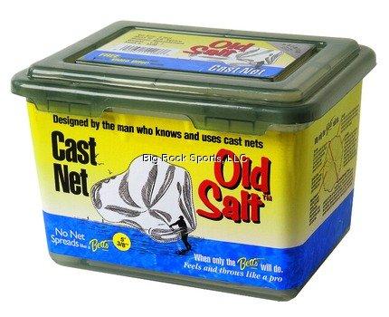 Betts 7SM Old Salt Mono Cast Net 7-Foot Length 12-Inch Mesh Clear Finish
