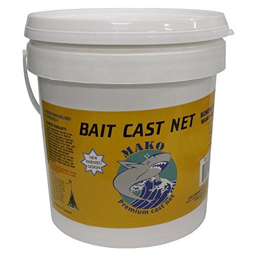 Mako Bait Cast Net 38 Square Mesh 6 Ft CBT-S6 6 ft Radius