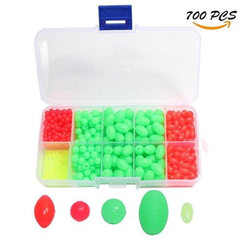 Croch Glow Fishing Beads Plastic Oval Shaped 700