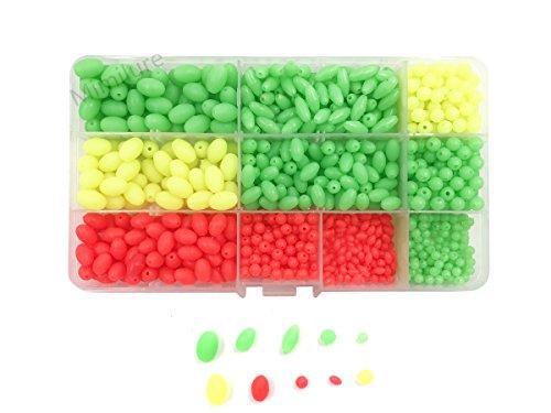 Luminous Glow Fishing Beads Soft Plastic Oval Shaped Beads Fishing Tackle Tools Eggs10 Size1000pcs