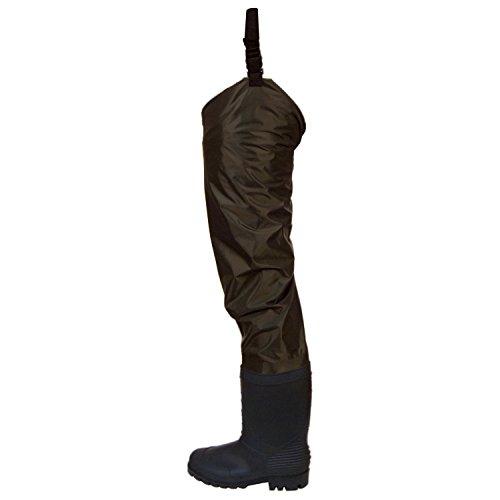 Frogg Toggs Rana II PVC Felt Hip Wader Size 11 Dark Brown