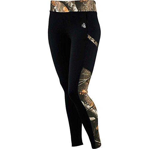 Legendary Whitetails Ladies Driven Performance Big Game Camo Leggings Black Large
