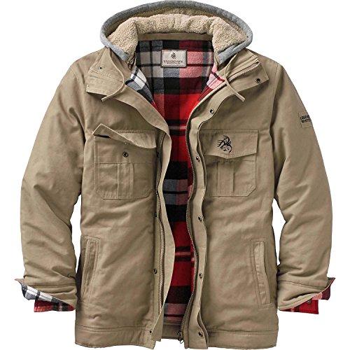 Legendary Whitetails Mens Oakridge Vintage Washed Canvas Jacket Khaki XX-Large