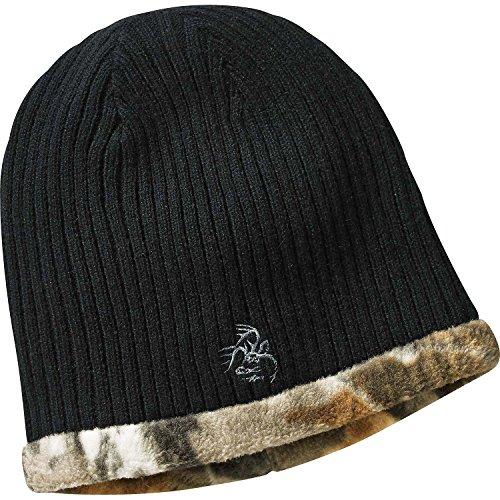 Legendary Whitetails Mens Trophy Buck Reversible Knit Camo Hat Black One Size