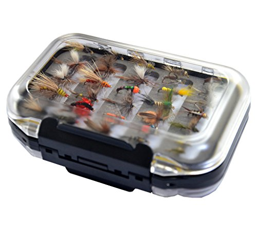 Go-to Dry Fly Wet Fly Nymph and Streamer Fly Lure Assotment  Waterproof Fly Box for Trout Fly Fishing Flies
