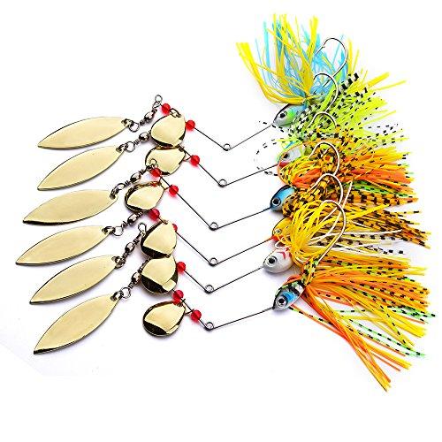 6 Fishing Hard Spinner Lure Spinnerbait Pike Bass 18g063oz