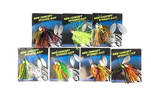 Pack of 14 Best Hard Baits Spinnerbait Kit for Bass fishing Kit 2 Spinnerbait Kit A