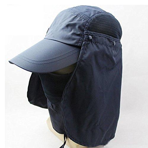 Outdoor Fishing Hat 360 UV protection Sun block hat Unisex Folding visor fishing Nylon Cap hiking for Hiking Gardening Beach Camping Boating Outdoor Activities