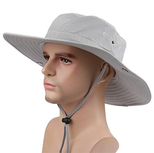 Vsace Wide Brim Fishing Sun Hat for Men UPF 50 Sun Protection