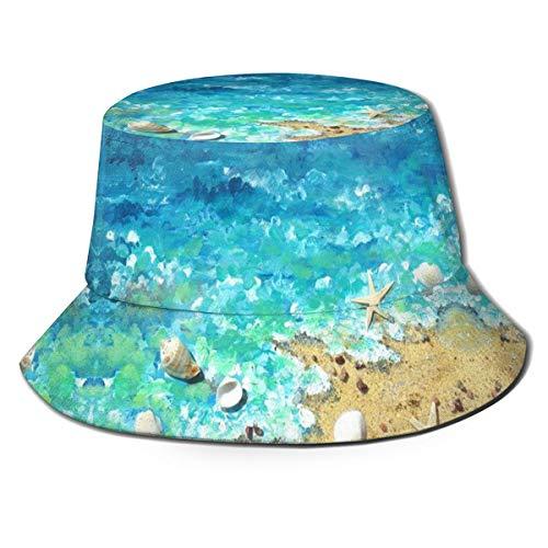 CHILL·TEK Bucket Hats Sea Shells On Beach Bucket Hat Outdoor Camping Fishing Rain Safari Boonie Cap