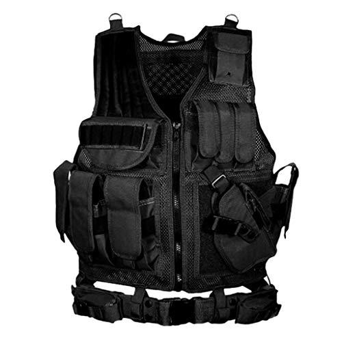 Allywit-Mens Mesh Fishing Vest Photography Work Multi-Pockets Outdoors Journalists Vest Jacket