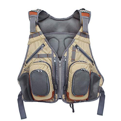 Godyluck Outdoor Fishing Vest Backpack Multi Pocket Breathable Mesh Fishing Vest Pack Waistcoat Jacket Coat