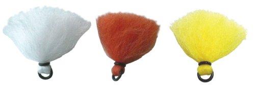 Anglers Accessories Poly Vee Rubber O-Ring Yarn Strike Indicators 3 Pack Orange