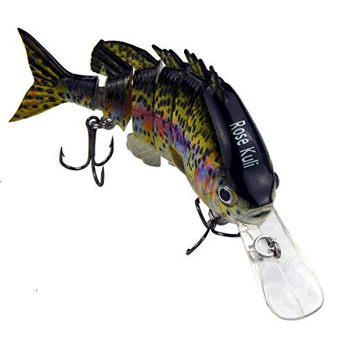 Rose Kuli 38 6 Jointed Life-like Swimbait Hard Fishing Lure Bass Bait