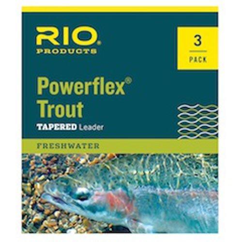 Rio Powerflex Trout Leaders 3 Pk 9ft 5X