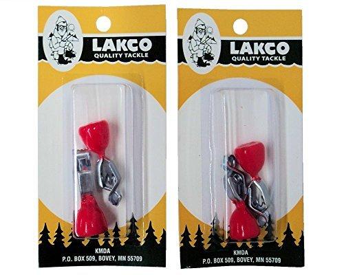 Lakco Depth Finders - 2 packs of 24 total - Red-Orange - 832