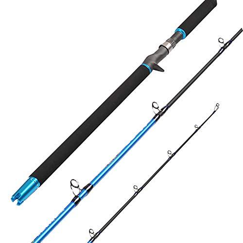 Fiblink 6 Saltwater Jigging Casting Rod 2-Piece Graphite Boat Fishing Rod 30-50lb50-80lb