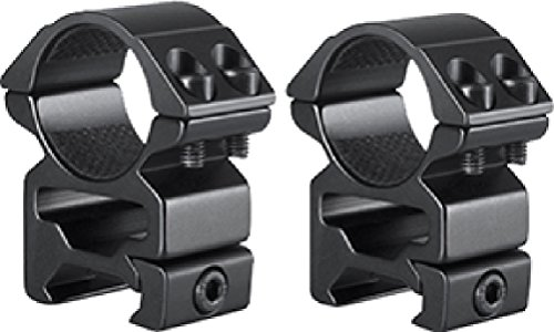 HAWKE 2pc Match Series Weaver Scope Rings 1in High QuickPeep HM7103