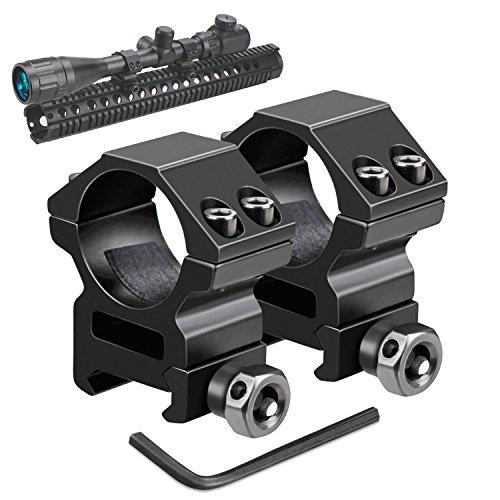 Modkin Rifle Scope Rings Medium Profile Scope Mounts for PicatinnyWeaver Rail 1 inch Set of 2