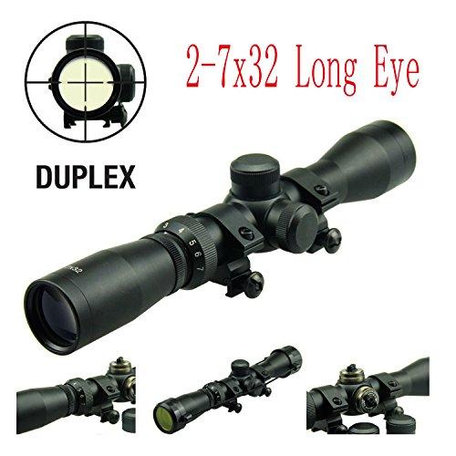 TACFUN - Field Sport Long Eye Relief Scout Scope 2-7X32 wWeaver Scope Rings