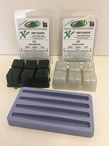 4 Soft Plastic Stick Bait Lure Making Starter Kit - Fisherman Gift - Fusion X Fishing 2040MC StiX