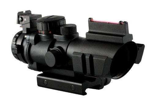 Aim Sports 4X32 Tri III Scope with Fiber Optic Sight