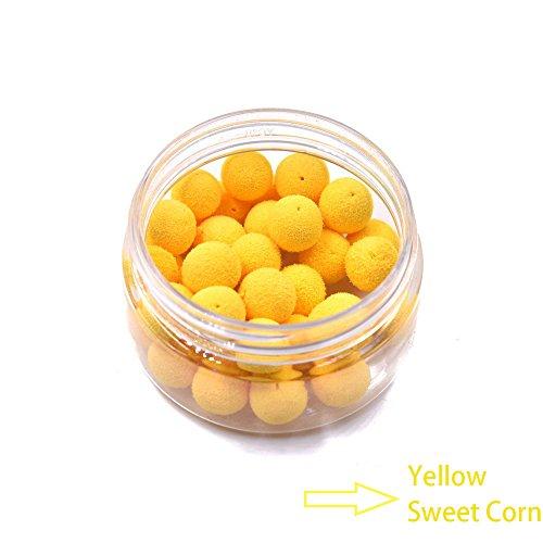 12mm Yellow Pop Corn Smell Carp Fishing Bait Boilies Egg Floating Ball Beads Feeder Artificial Carp Baits Lure Hair Rig